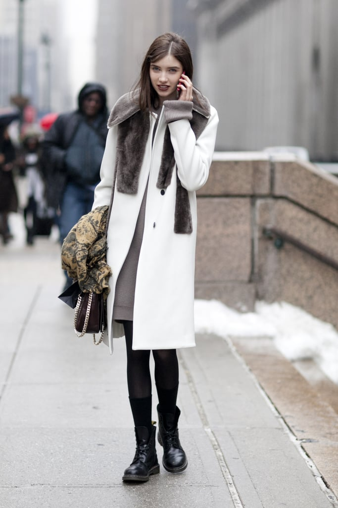 The most luxurious of Winter-white coats.