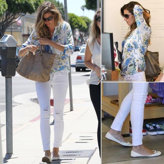 Gisele Wearing White Skinny Jeans