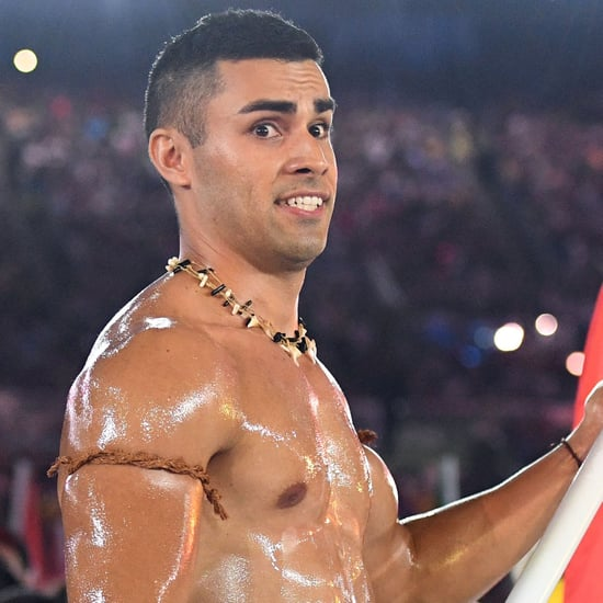 Hot Tonga Flag Bearer at the Olympics Opening Ceremony