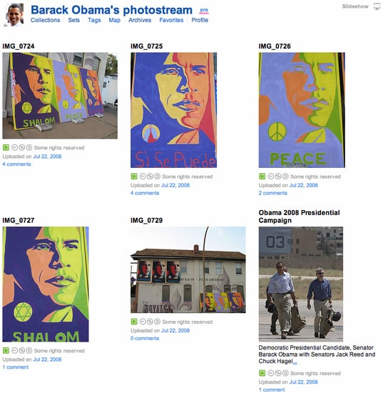 Where I'm Clicking Now: Barack Obama's Flickr Page