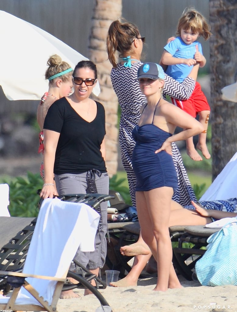 Reese Rocks a Swimsuit With Shirtless Jim and Baby Tennessee