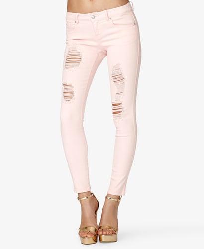 FOREVER 21 Destroyed Skinny Jeans