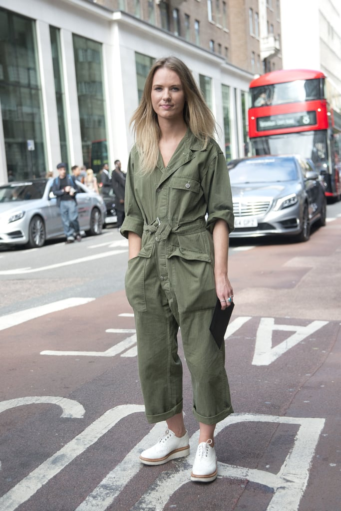 A utility-style jumpsuit means just one-stop to chic, easy Summer dressing.