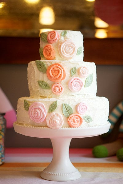 Rose-Adorned Cake