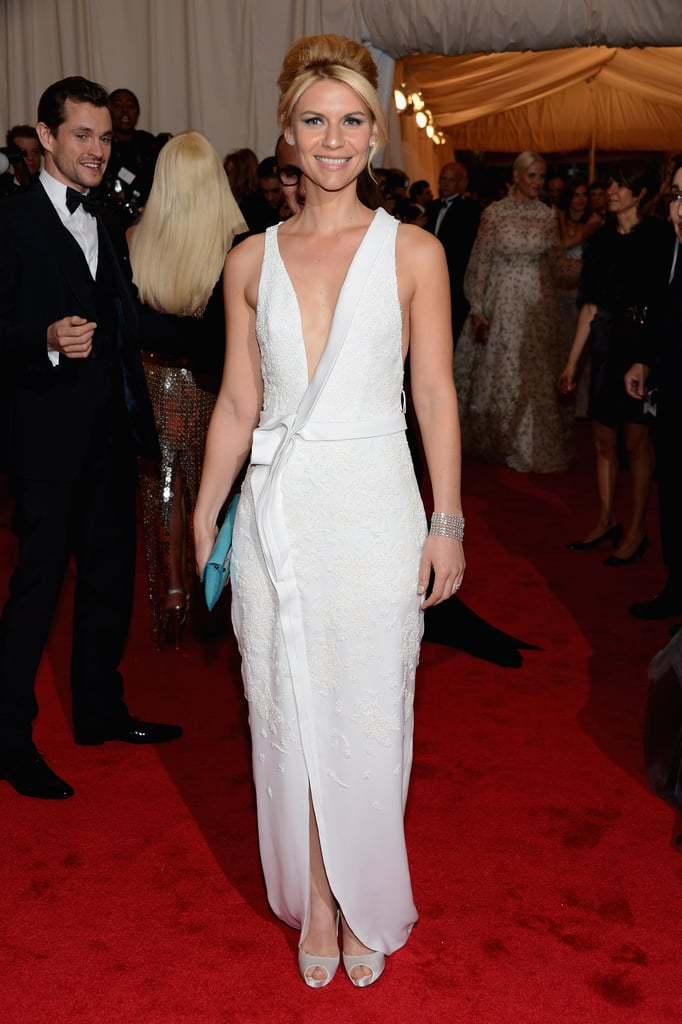 Her white low V-cut J. Mendel gown and peep-toe Christian Louboutin heels proved a stunning combination at the 2012 Met Gala.