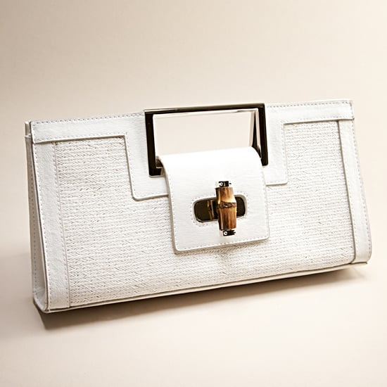 The Limited Straw and Bamboo Clutch, $45