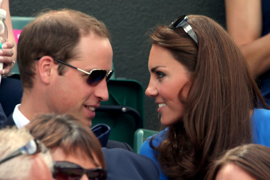 Prince William and Kate Middleton shared a sweet moment during the match.