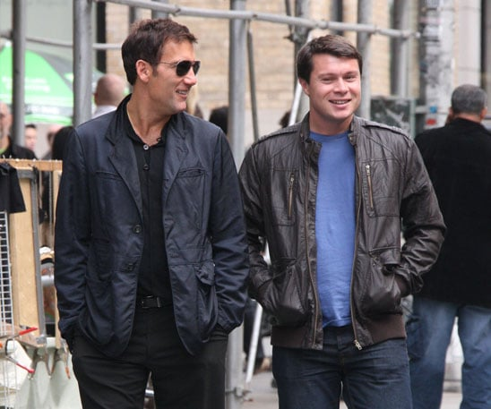 Photo Slide of Clive Owen Walking in NYC