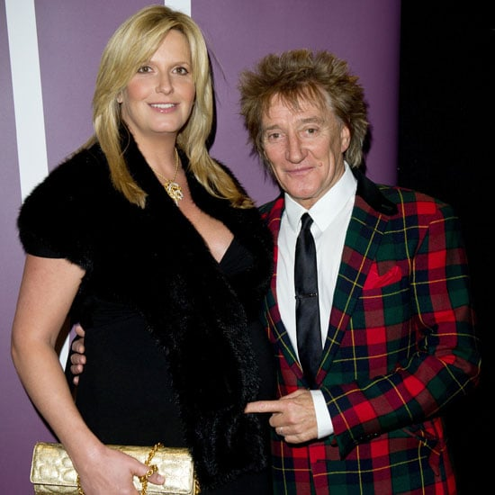Pictures of Rod Stewart and Penny Lancaster Who Have Welcomed a Son Baby Boy Named Aiden