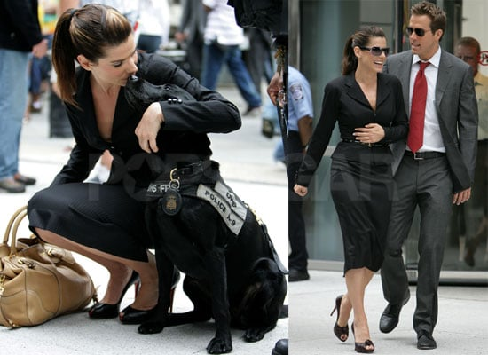 Photos of Sandra Bullock and Ryan Reynolds on the Set of The Proposal in NYC