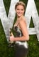 Jennifer Lawrence posed with her statue.