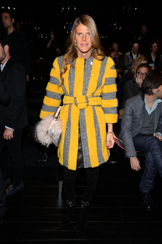 Anna Dello Russo at the Gucci menswear show.