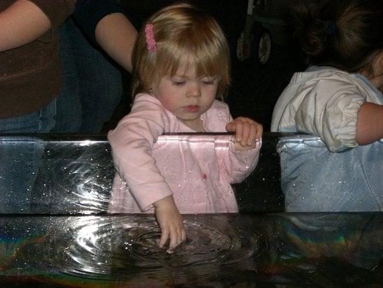 Playing at the aquarium.