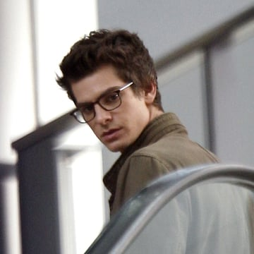 Andrew Garfield on The Amazing Spider-Man Set