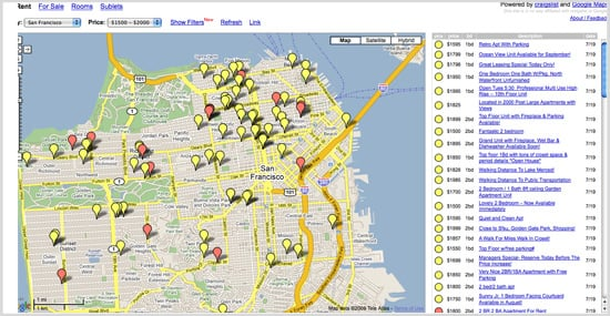 Craigslist and Google Maps Are Combined in HousingMaps