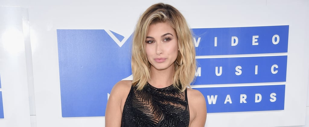 Hailey Baldwin Couldn't Help but Snap Selfies in Her Sheer VMAs Look