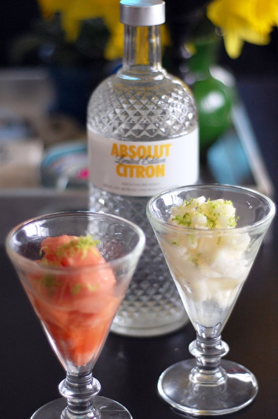 Sorbet With Citrus Vodka and Lime Zest