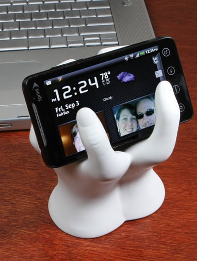 Cell Phone Hand Stand: Totally Geeky or Geek Chic?