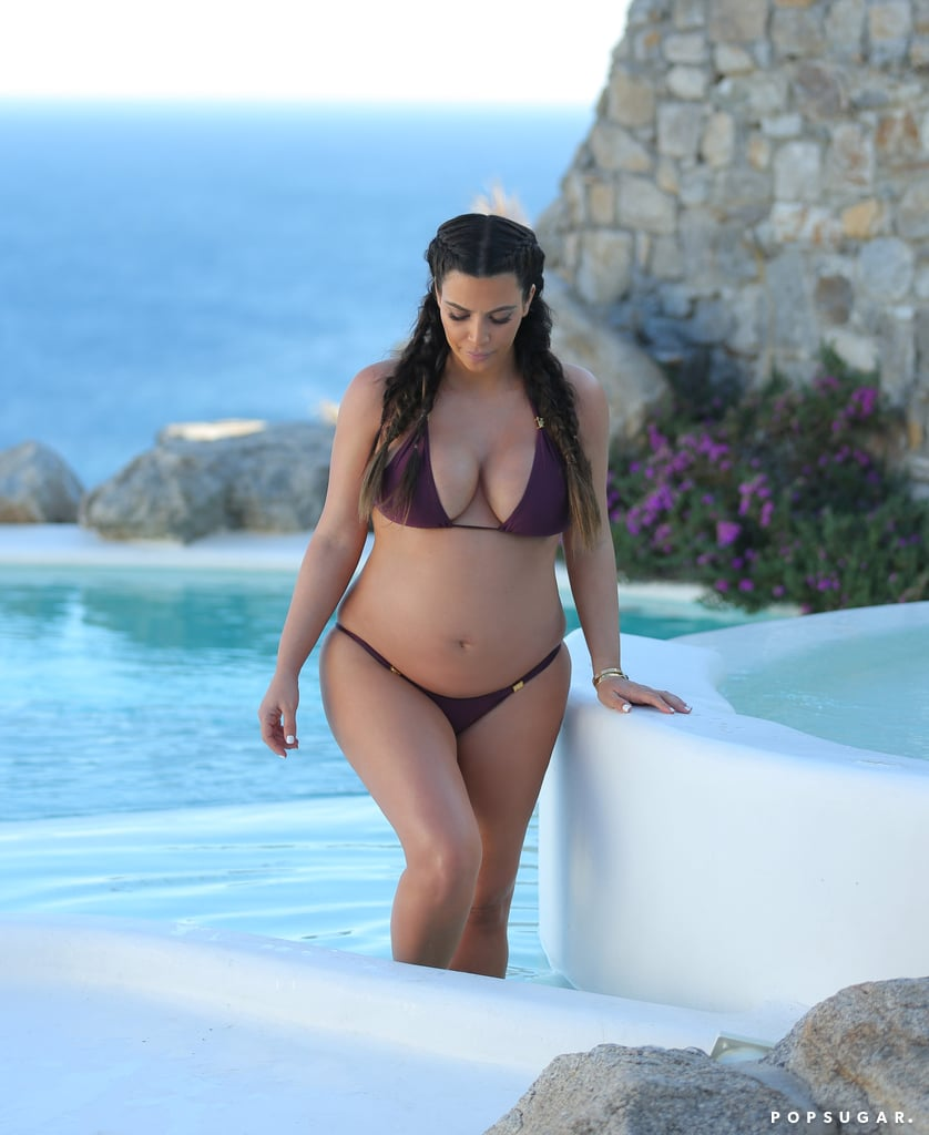 Kim Kardashian went for an afternoon dip in Mykonos, Greece, in April 2013.