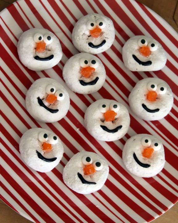 Snowman Doughnuts