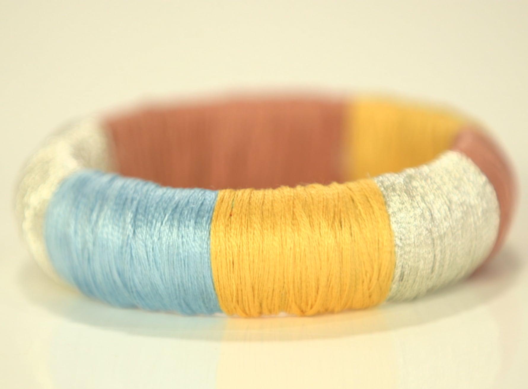 Thread-Wrapped Bracelet