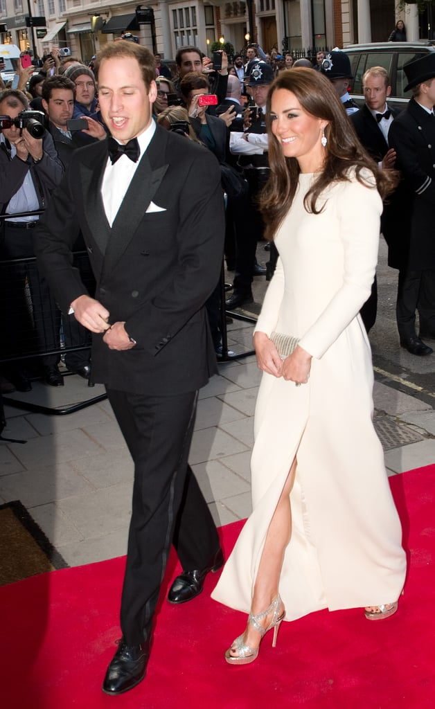 Prince William and Kate Middleton arrived for a dinner hosted by The Thirty Club at London's Claridges in May.