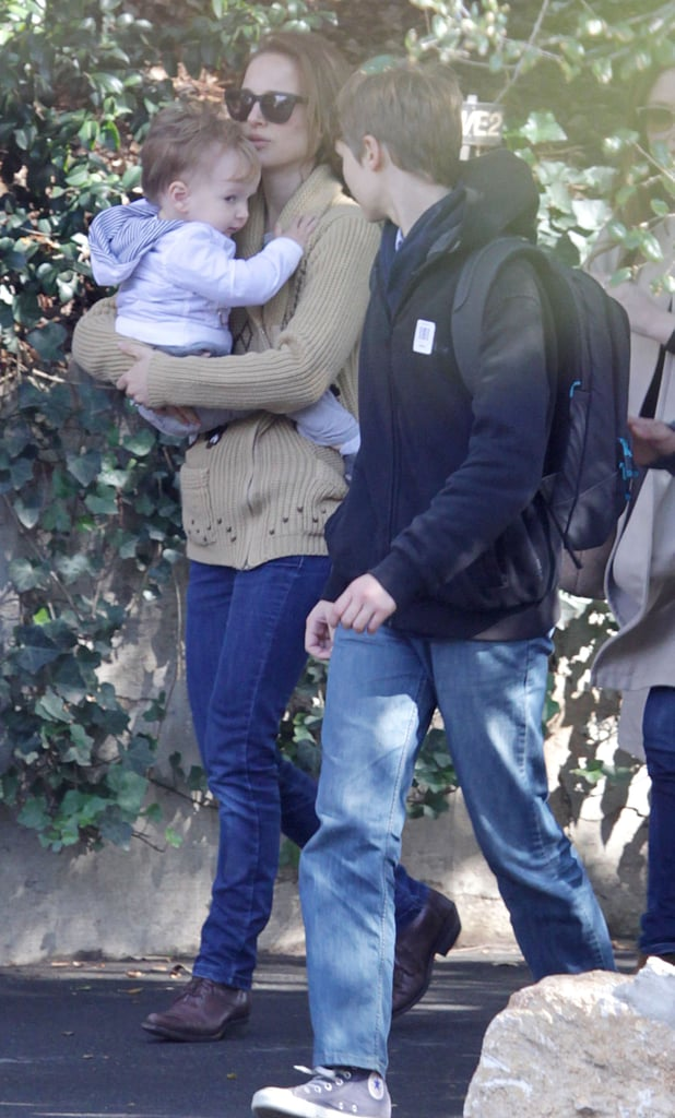 Natalie Portman and her son, Aleph Millepied, spent an afternoon out at Huntington Botanical Gardens.