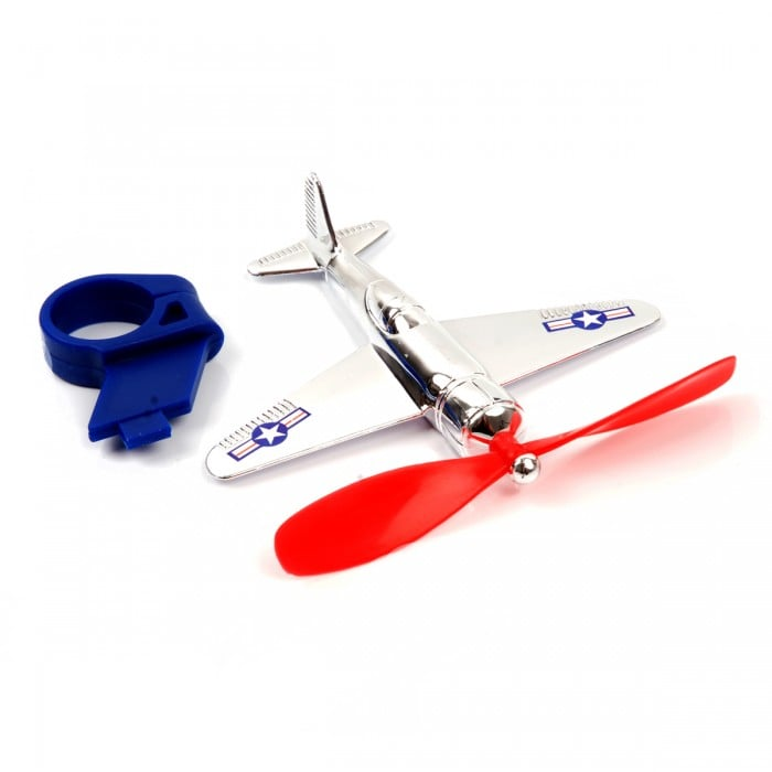 Vilac's airplane bike accessory ($10) can clip to his handlebar for a cool touch he'll love.