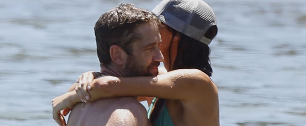 Shirtless Gerard Butler Gives His Girlfriend Movie-Level PDA at the Beach