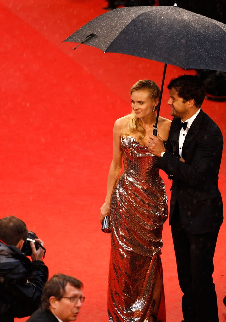 Diane Kruger and Joshua Jackson attended the premiere of Amour.