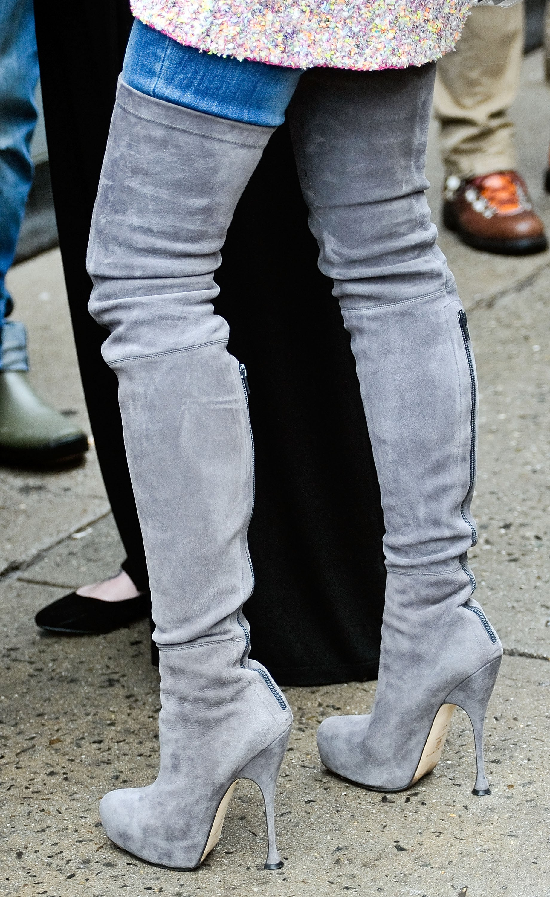 Miroslava Duma S Thigh High Suede Boots Made For One Sexy