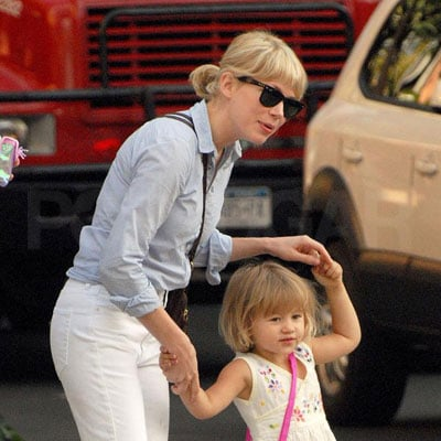 Michelle Williams and Matilda Ledger in Brooklyn 2008-08-30 08:30:00