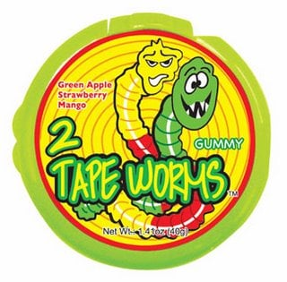 Yummy Link: 2 Tape Worms Novelty Gummi Candy