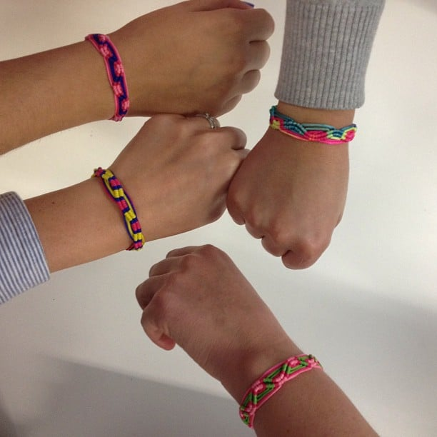 We're all feeling the Summer vibe in here — these friendship bracelets came from Thailand, and we haven't taken them off!