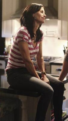Jules Cobb in Striped Shirt on Cougar Town