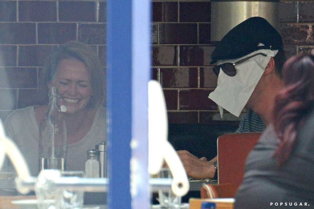 But then Benedict put a napkin on his face. Casual.