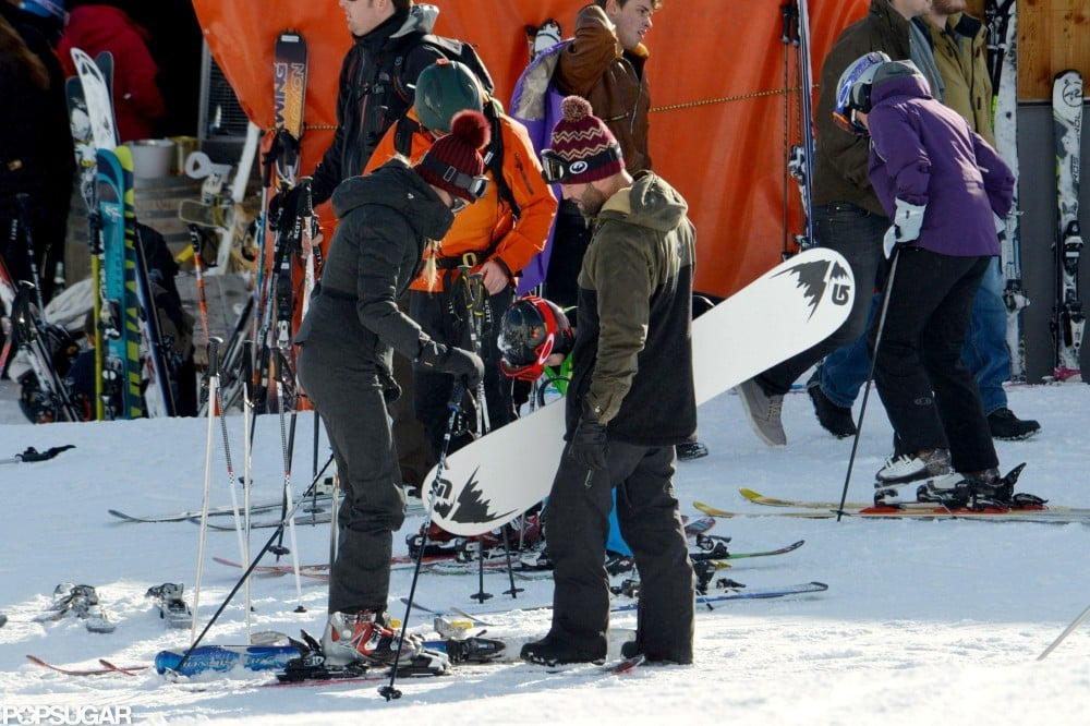 Jason Statham and Rosie Huntington-Whiteley stepped out together in the French Alps