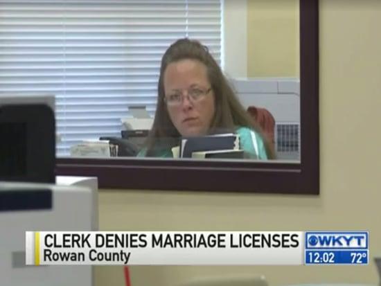 Kentucky Clerk Denies Marriage License to Same-Sex Couple ... Again