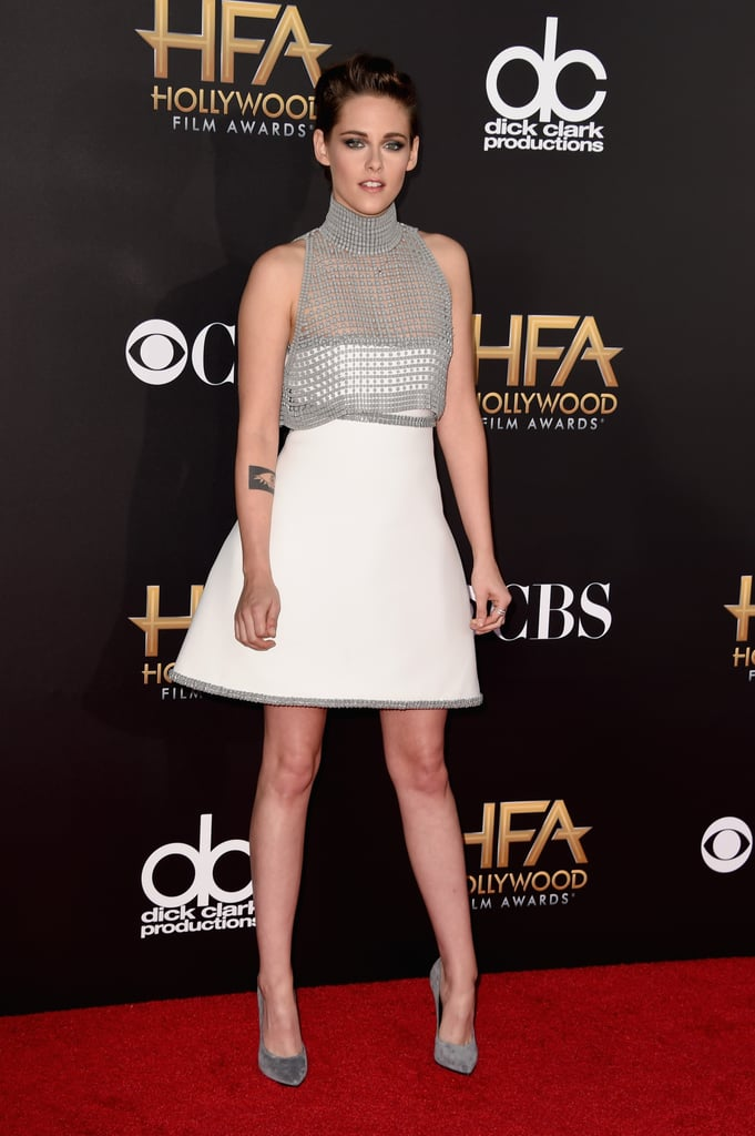 The actress traded her minis for a fit-and-flare style at the Hollywood Film Awards in Nov. 2014.