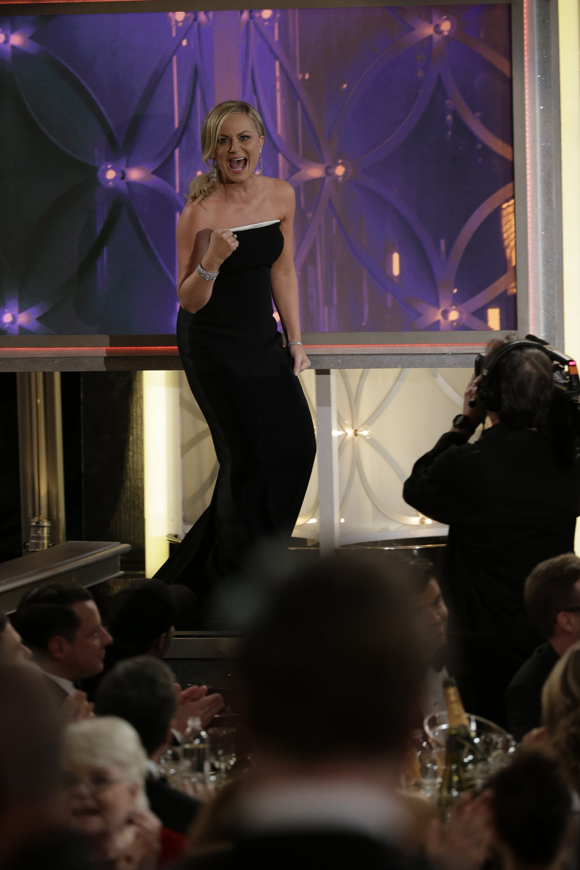 Amy Poehler's animated walk to the stage to accept her Golden Globe Award for best actress in Parks and Recreation was a moment to remember.