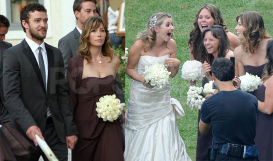 Photos of Jessica Biel and Justin Timberlake at 7th Heaven's Beverley Mitchell's Wedding