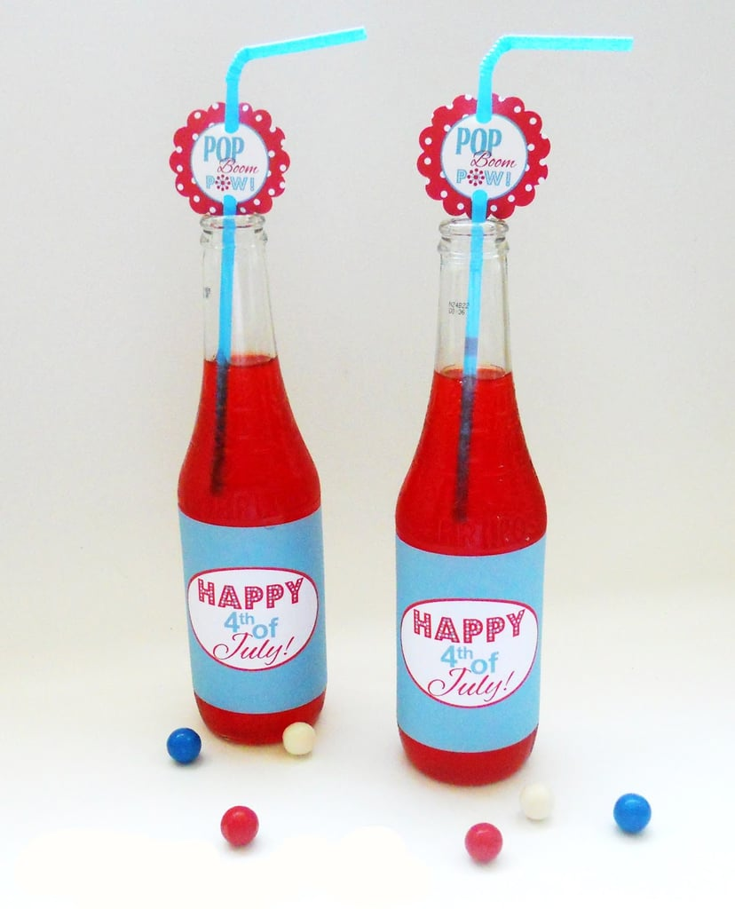 Fourth of July Straw Tags