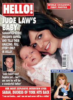 Hello Exclusive Samantha Burke Interview About Jude Law and First Pictures of Baby Sophia