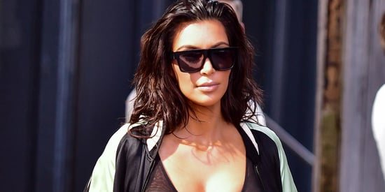 Kim Kardashian's Latest Sheer Outfit Might Be Her Most Bizarre Yet