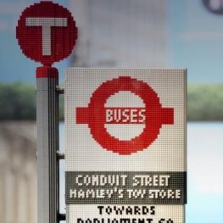 Lego Bus Stop in London