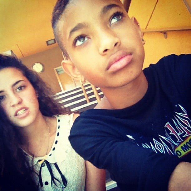 Willow Smith hung out with a friend. Source: Instagram user officialwillow