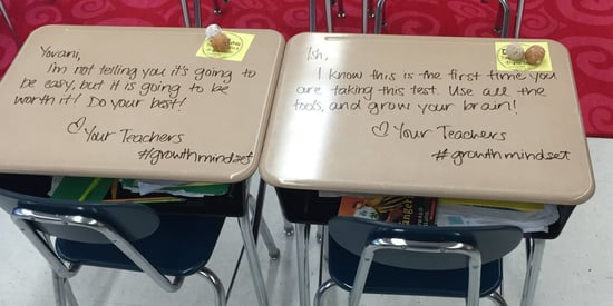 Teacher Writes Uplifting Notes On Students' Desks To Boost Confidence Before Exam