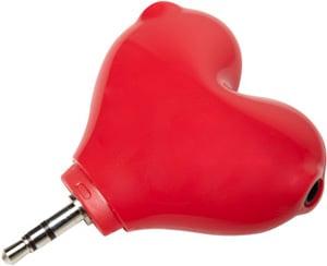 Heart Headphone Splitter For Couples in Love