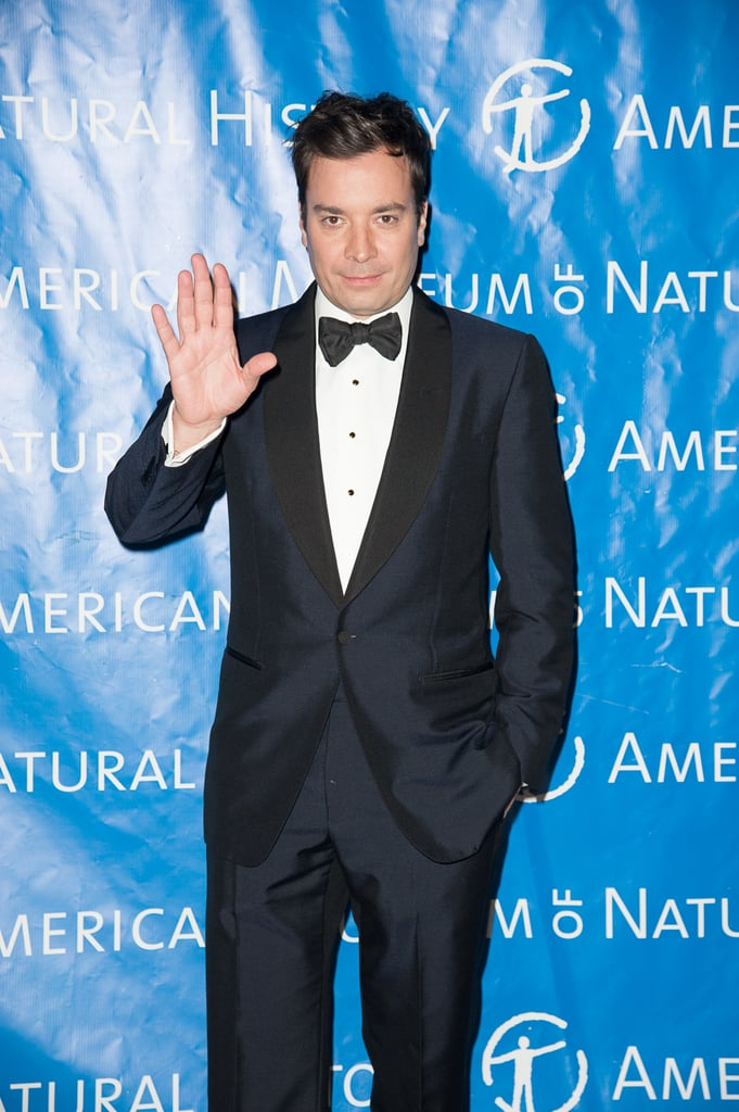 Jimmy Fallon gave a wave.