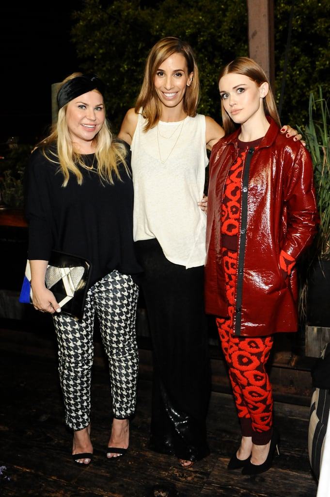 In honor of their collaboration, Holland Roden joined Emily Current and Meritt Elliott at their PBteen launch event in West Hollywood.